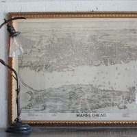 ANTIQUE MAP IN MARBLEHEAD MASSACHUSETTS