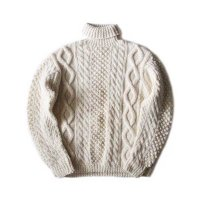 OLD TURTLE NECK FISHERMAN SWEATER (X-LARGE)