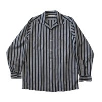 1960's STRIPE COTTON BOX SHIRT (LARGE) MINT CONDITION