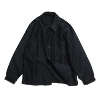 1940's〜 FRENCH BLACK MOLESKIN WORK JACKET (LARGE) MINT CONDITION