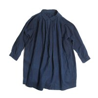 ANTIQUE FRENCH INDIGO LINEN SMOCK (UNISEX)