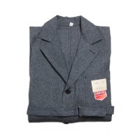 N.O.S 1950's FRENCH SALT & PEPPER CHAMBRAY WORK COAT (MEDIUM)