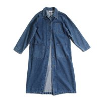 OLD UNISEX DENIM LONG COAT (LARGE)