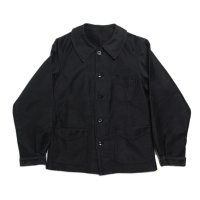 1940's FRENCH BLACK MOLESKIN JACKET MINT CONDITION (FOR WOMEN X-SMALL)
