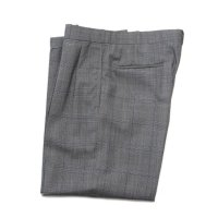 OLD GLEN CHECK TWO TUCK SLACKS (W32)