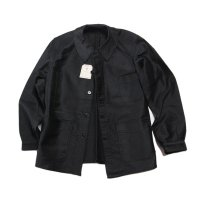 N.O.S 〜1940's FRENCH BLACK MOLESKIN WORK JACKET (MEDIUM)