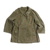 1940's FRENCH ARMY M-38 MOTOR CYCLE COAT (MEDIUM)
