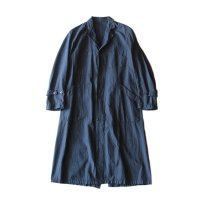 〜1940's INDIGO COTTON FRENCH WORK COAT (MEDIUM)