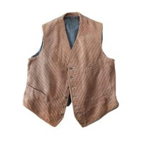 〜1940's FRENCH WORK CORD'S VEST (LARGE) MINT CONDITION