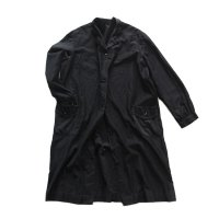 1940's FRENCH BLACK MOLESKIN WORK COAT (UNISEX)