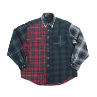 OLD CRAZY PATTERN COTTON FLANNEL SHIRT (UNISEX)