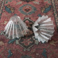ANTIQUE GLASS SHADE (SET OF 2)