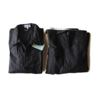 N.O.S FRENCH BLACK CHINA SHIRT & PANTS (LARGE)