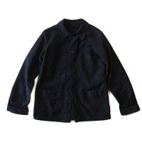 1950's V-POCKET FRENCH BLACK MOLESKIN JACKET (MEDIUM) MINT CONDITION