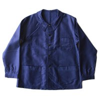 N.O.S 1950's FRENCH BLUE MOLESKIN JACKET (LARGE)