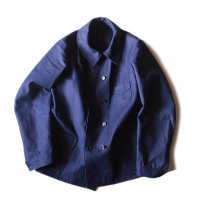 N.O.S 1940's FRENCH DOUBLE BREASTED WORK JACKET WITH SMALL V-POCKET (MEDIUM)