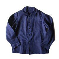 N.O.S 〜1960's  FRENCH WORK JACKET HEAVY COTTON TWILL (LARGE)