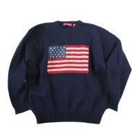 OLD AMERICAN FRAG SHETLAND WOOL  SWEATER (X-LARGE)