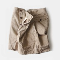1950's FRENCH ARMY MILITARY CHINO SHORTS (W31)