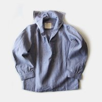 N.O.S 1960's  FRENCH NAVY LINEN PULLOVER (LARGE)