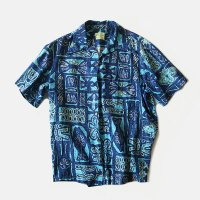 OLD COTTON HAWAIIAN S/S SHIRT (LARGE) MINT CONDITION