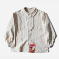 N.O.S 1950's FRENCH WORK COTTON H.B.T JACKET (LARGE) WITH V POCKET