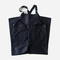 N.O.S FRENCH WORK BLACK MOLESKIN LOW BACK STYLE OVERALL (W43)