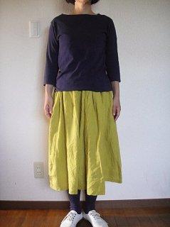 ヤンマ産業 リネンギャザースカート 80cm丈5色