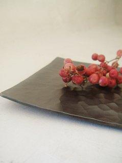 純銅黒角皿