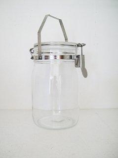 取っ手付密封ガラス瓶1L