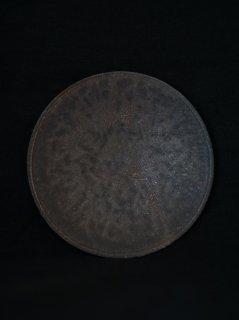 小林耶摩人 黒釉5寸皿