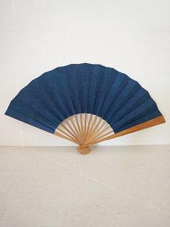 杉山江見堂 草木染扇子15間(藍)
