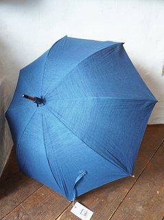 会津木綿日傘 ブルー