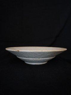 小林耶摩人 粉引6寸リム平鉢