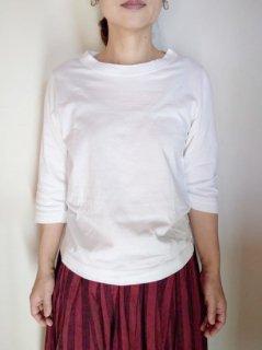 homspun (ホームスパン)天竺Tシャツ 七分袖