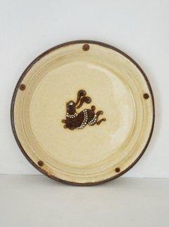 小島鉄平 5寸皿 ウサギ