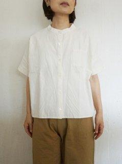 ヤンマ産業 会津木綿スタンドカラーシャツ 3色
