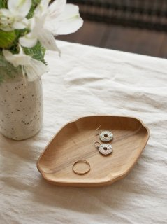 四十沢木材工芸 隅入菱小皿