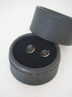 accessories mau オニキスオパールピアスK10ピアス