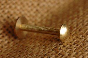 中ポンネジ 真鍮メッキ(銅製)