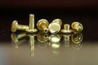リベットJP(小)真鍮製 頭9mm 足6mm ダブルキャップ