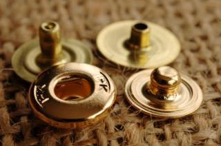 THK Design バネホック 約9mm 金メッキ/gold plate