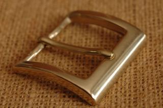 イタリア製 ブラス バックル 3. 真鍮 35mm