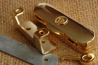 イタリア製 フレーム用 錠前 1 金メッキ