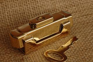 イタリア製 フレーム用 錠前 2 金メッキ