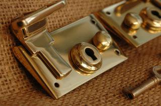 Brass Lock Set Made in England