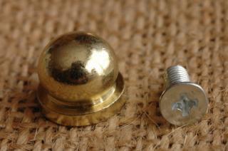 底鋲 真鍮無垢 made in USA 1. 直径13mm 高さ12mm