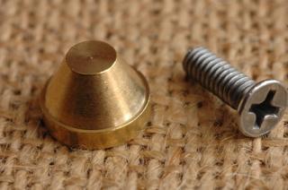 底鋲 真鍮無垢 made in USA 2. 直径12mm 高さ8mm