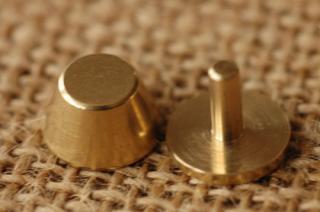 底鋲 真鍮無垢 日本製 2. 12x6.5mm