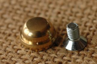 底鋲 真鍮無垢 日本製 3. 12x7mm